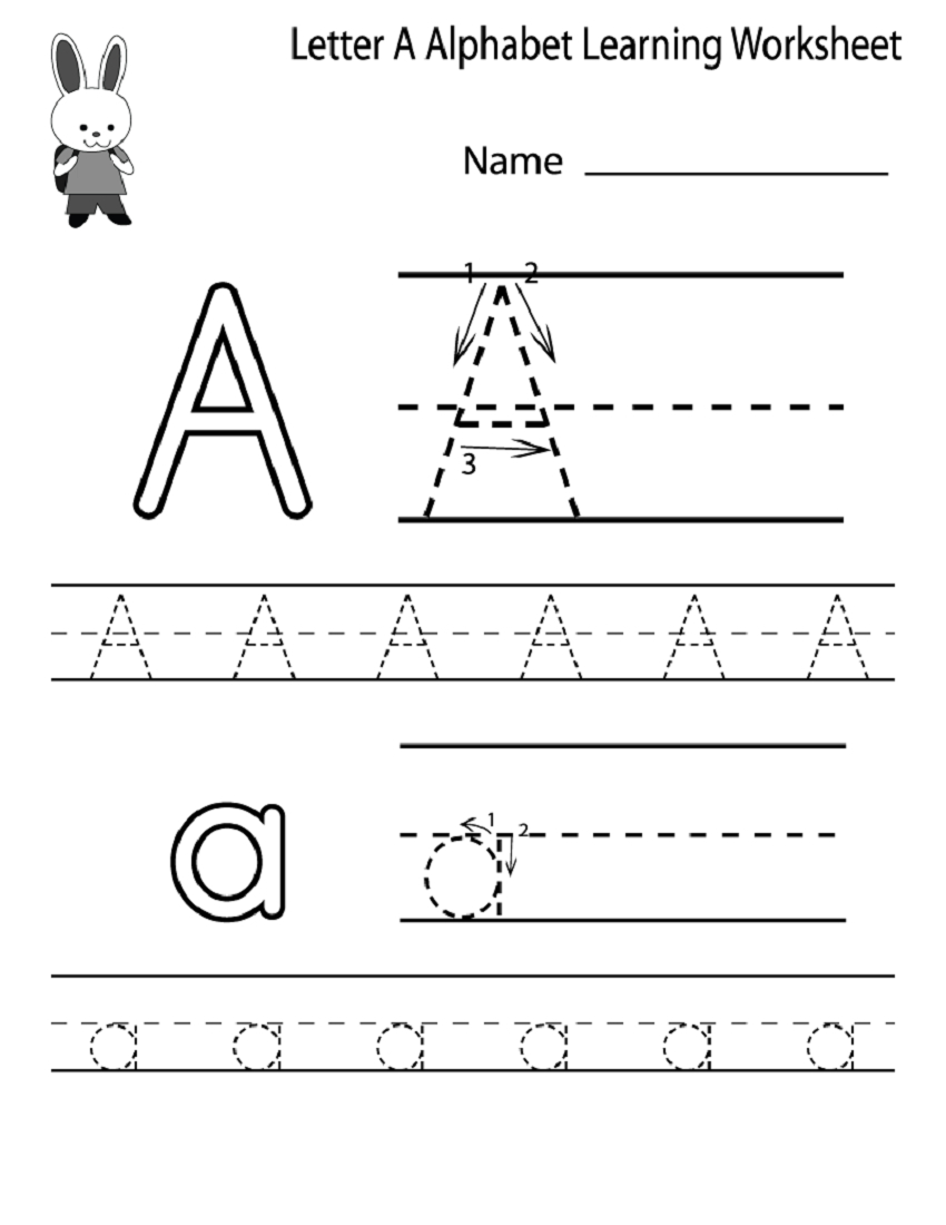 Kids Worksheets Kindergarten Alphabet To Print Activity pertaining to Alphabet A Worksheets Kindergarten