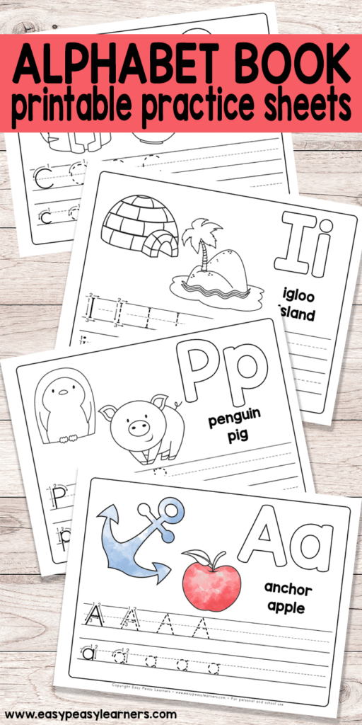 Kindergarten Learning Ts Free Printable Kids Alphabet Book Pertaining To Free Printable Pre K Alphabet Worksheets