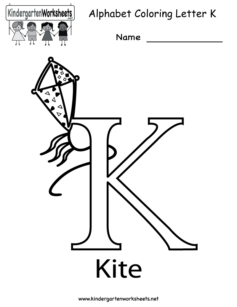 Kindergarten Letter K Coloring Worksheet Printable pertaining to Letter K Worksheets For Kinder