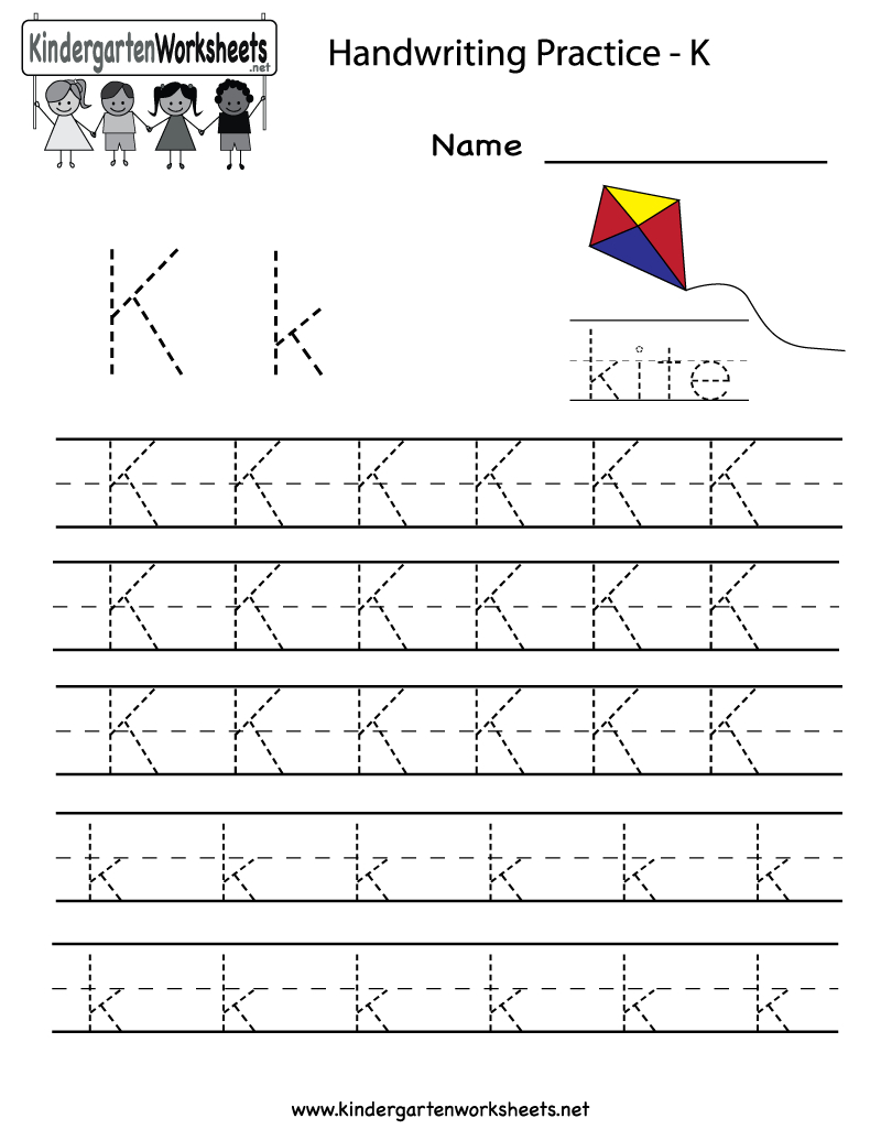 Kindergarten Letter K Writing Practice Worksheet Printable throughout Letter K Worksheets For Kinder