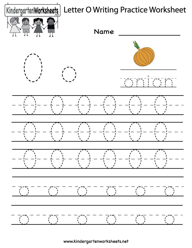 Kindergarten Letter O Writing Practice Worksheet Printable in Letter O Worksheets For Kindergarten
