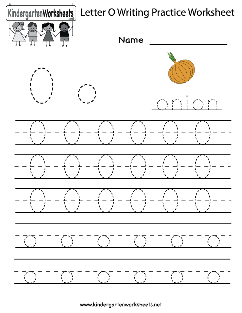 Kindergarten Letter O Writing Practice Worksheet Printable pertaining to Letter O Worksheets For Toddlers