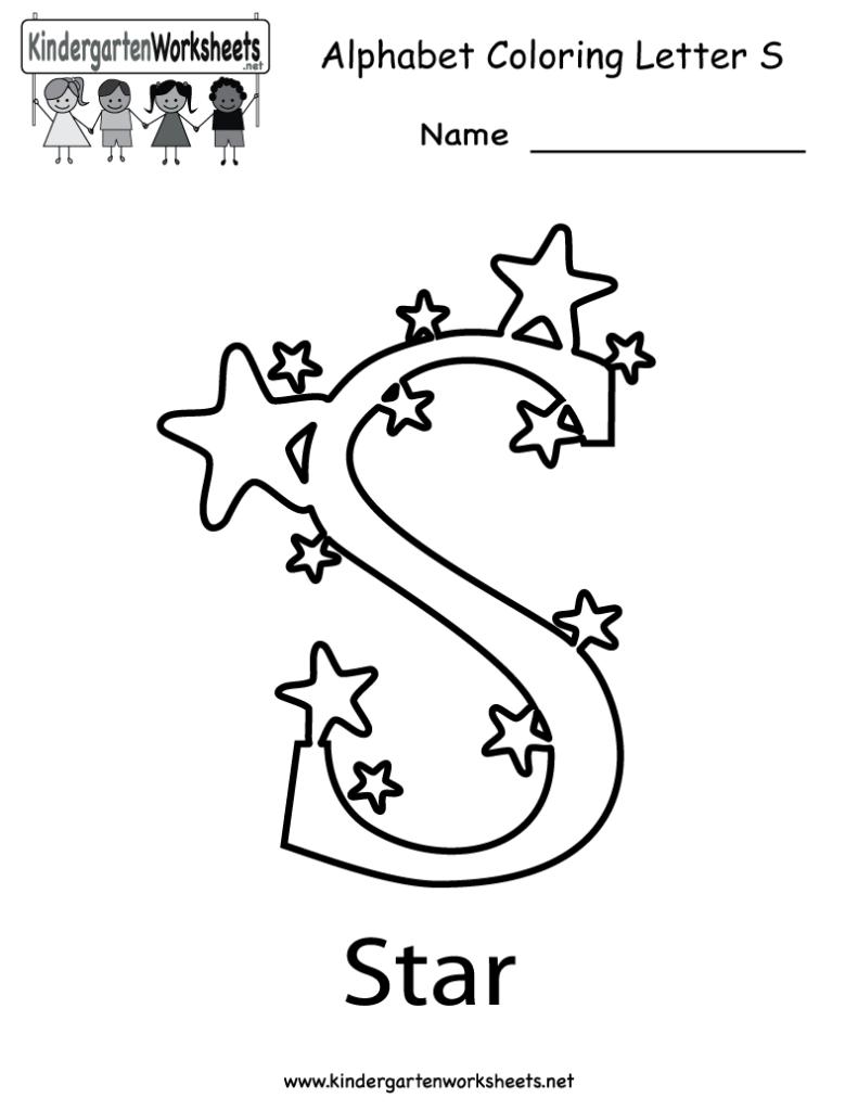 Kindergarten Letter S Coloring Worksheet Printable Regarding Letter S Worksheets For Toddlers
