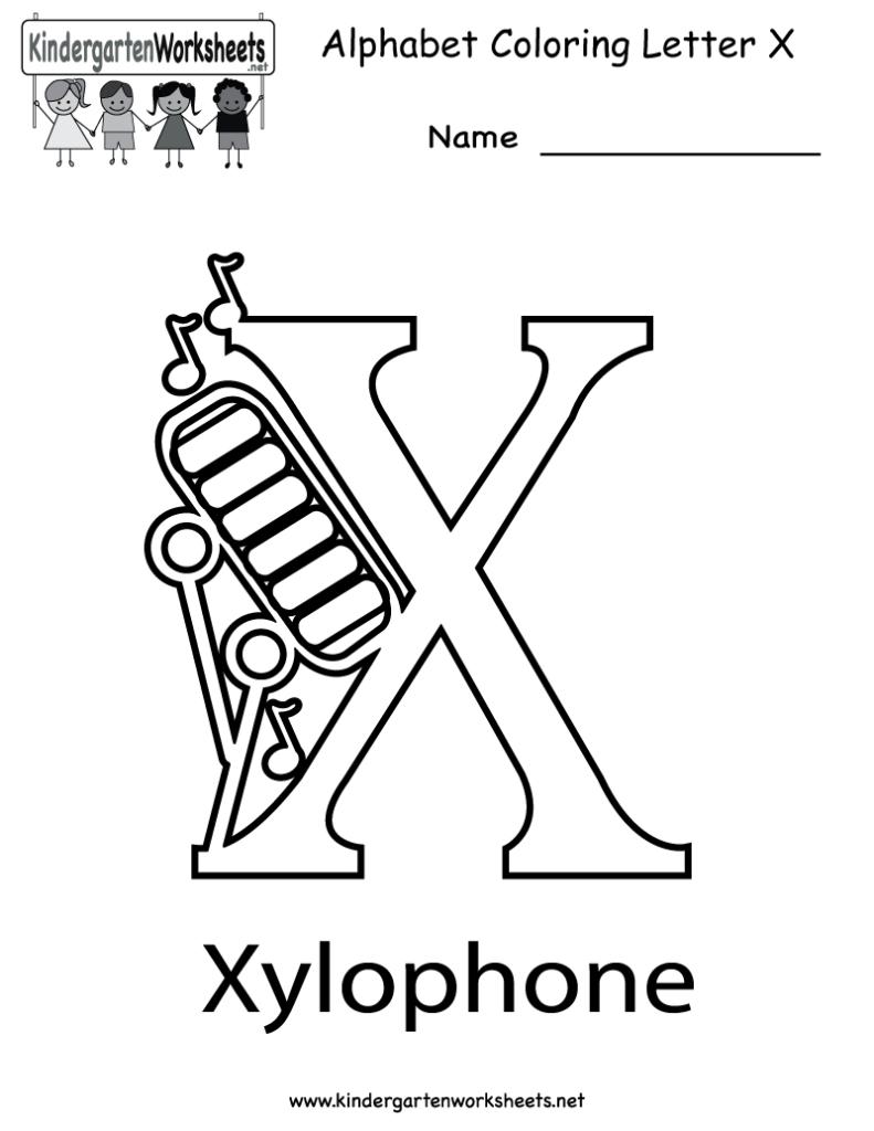 Kindergarten Letter X Coloring Worksheet Printable Regarding Letter X Worksheets Printable