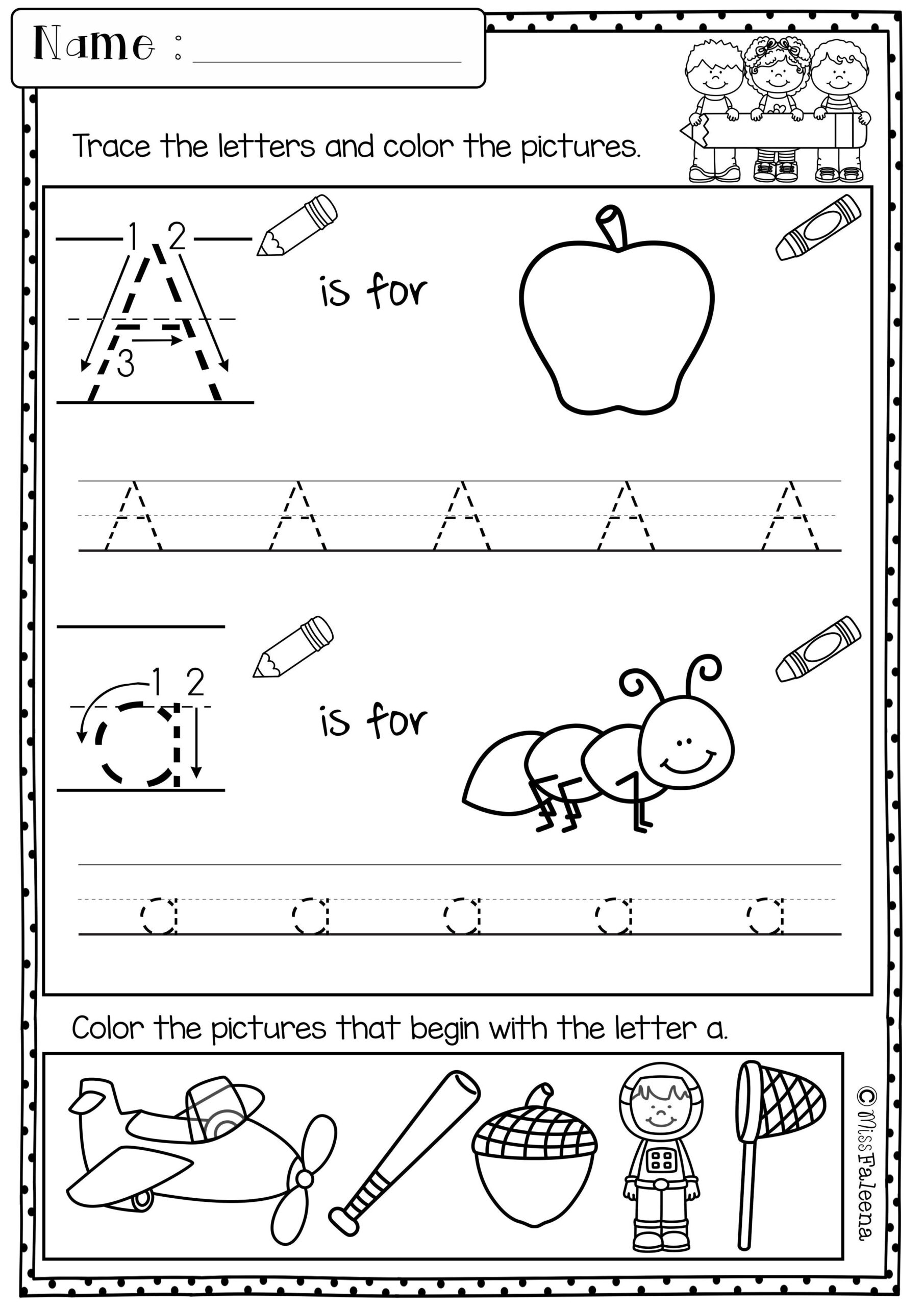 Kindergarten Morning Work (Set 1) | Kindergarten Morning with Alphabet Worksheets 1St Grade