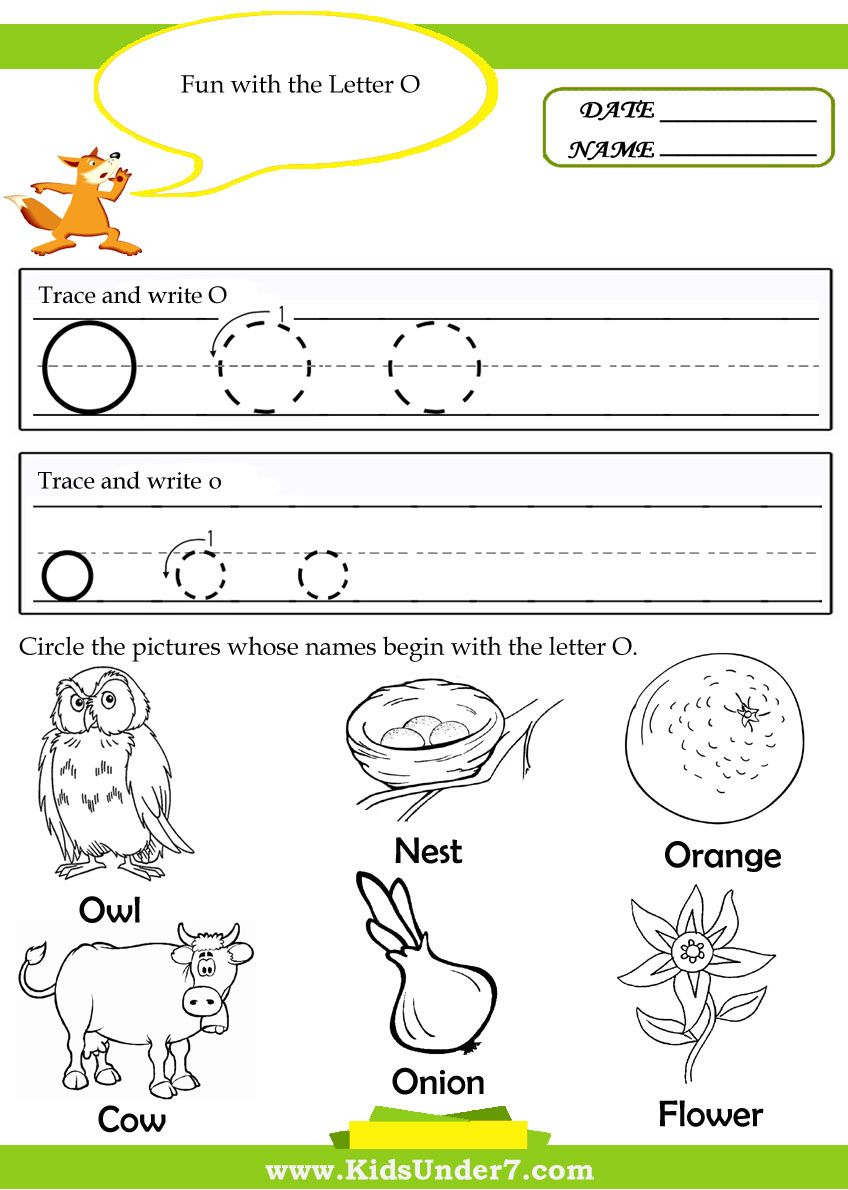 Kindergarten Worksheets For The Letter O - Google Search with regard to Letter O Worksheets For Kindergarten Free