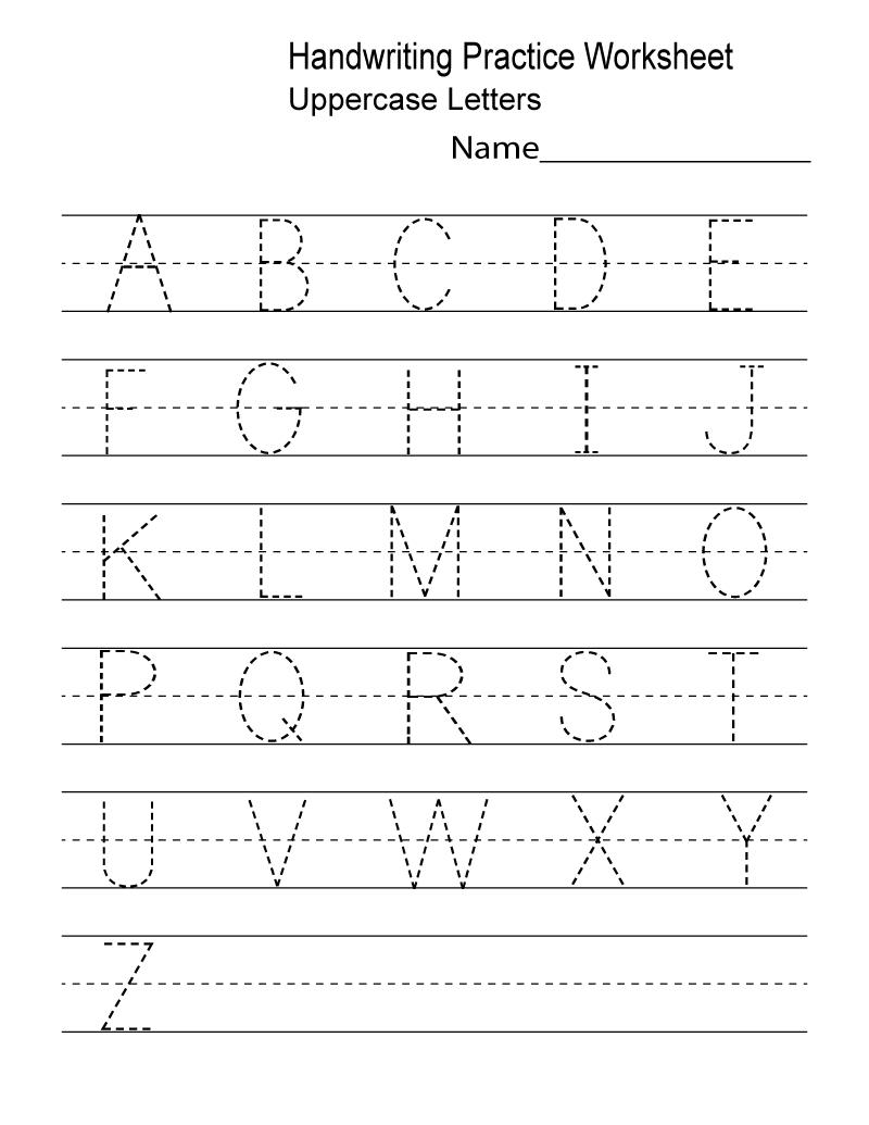 Kindergarten Worksheets Pdf Free Download | Writing in Alphabet Practice Worksheets Pdf