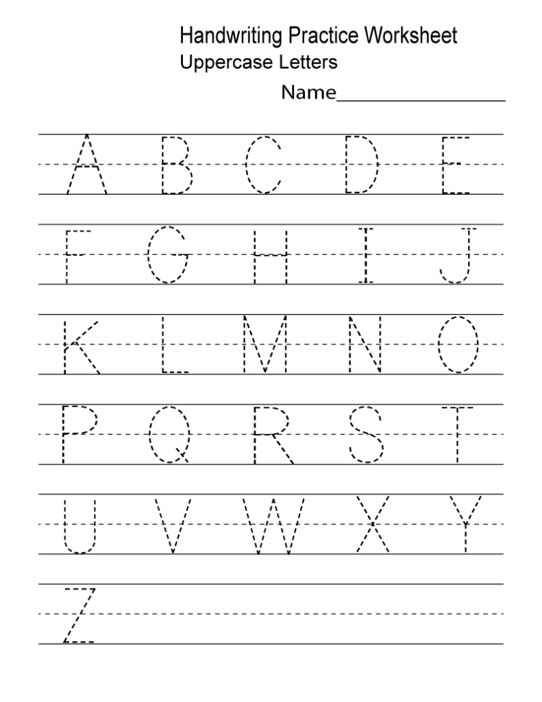 Kindergarten Worksheets Pdf Free Download | Writing Intended For Alphabet Worksheets Free Download