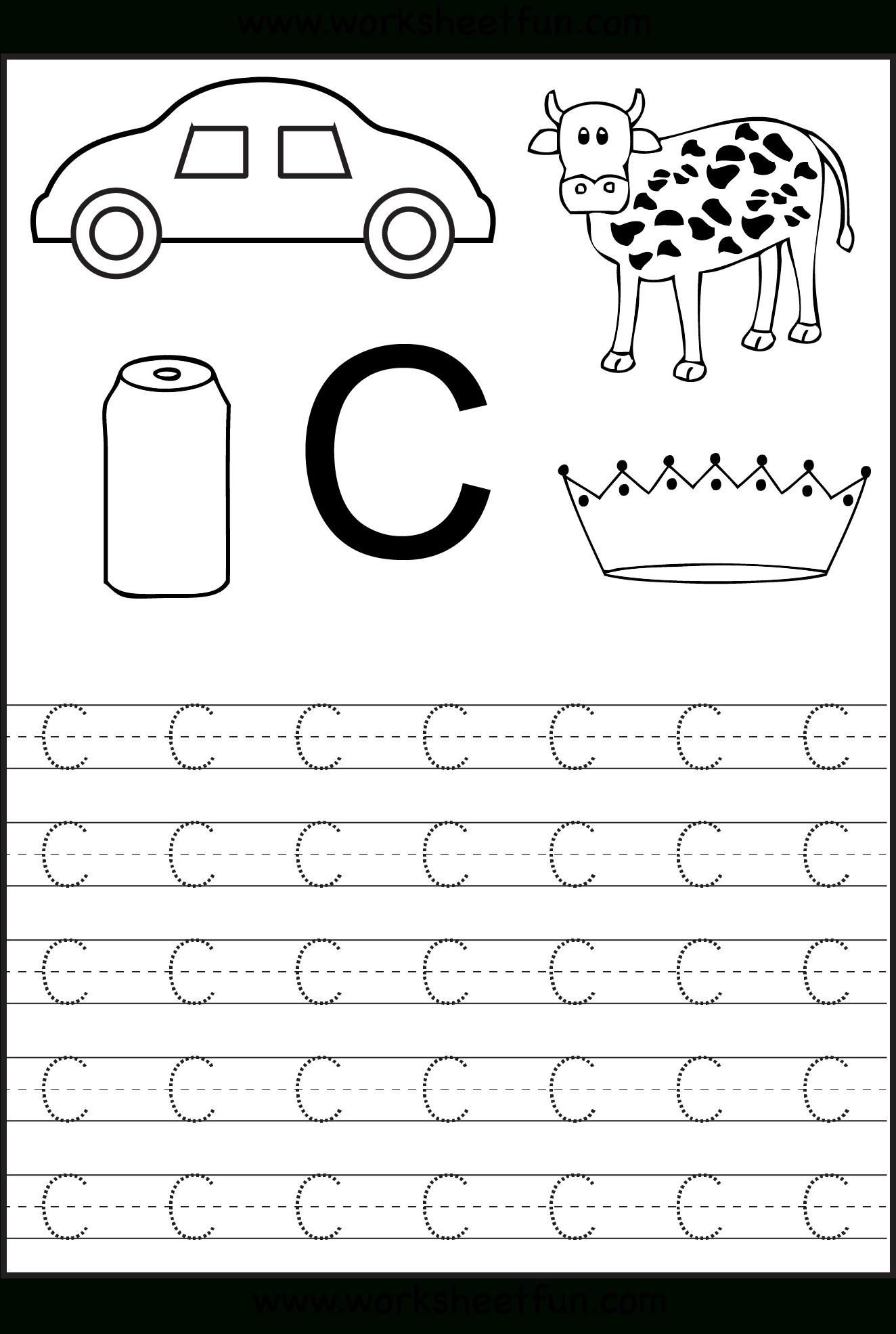 Learning The Letter C   Worksheet   Education in Letter C Worksheets For Nursery