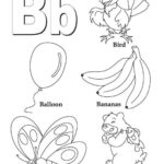 Letter B Coloring Pages   Preschool And Kindergarten Within Letter B Worksheets Printable
