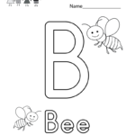 Letter B Coloring Worksheet. This Would Be A Fun Coloring Regarding Letter B Worksheets For Preschool