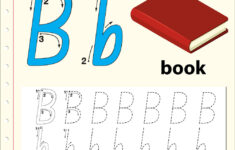 Letter B Tracing Alphabet Worksheets regarding Letter B Worksheets Free