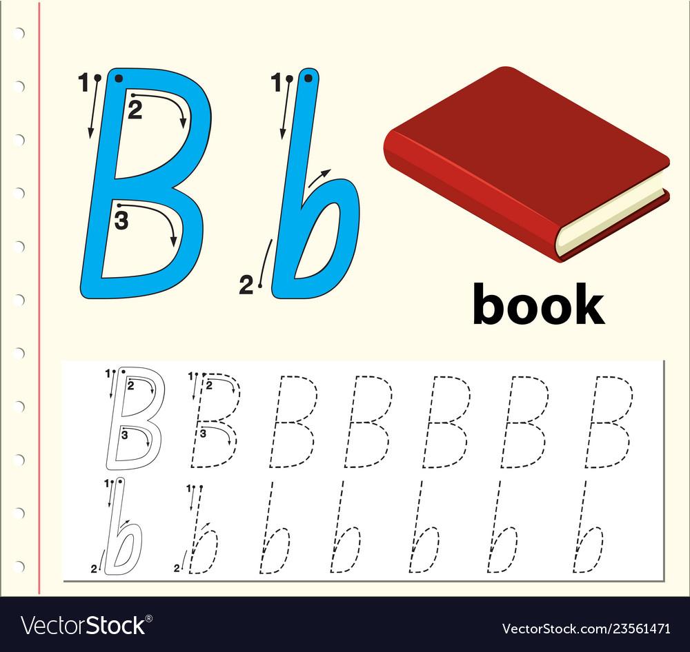 Letter B Tracing Alphabet Worksheets regarding Letter B Worksheets Free