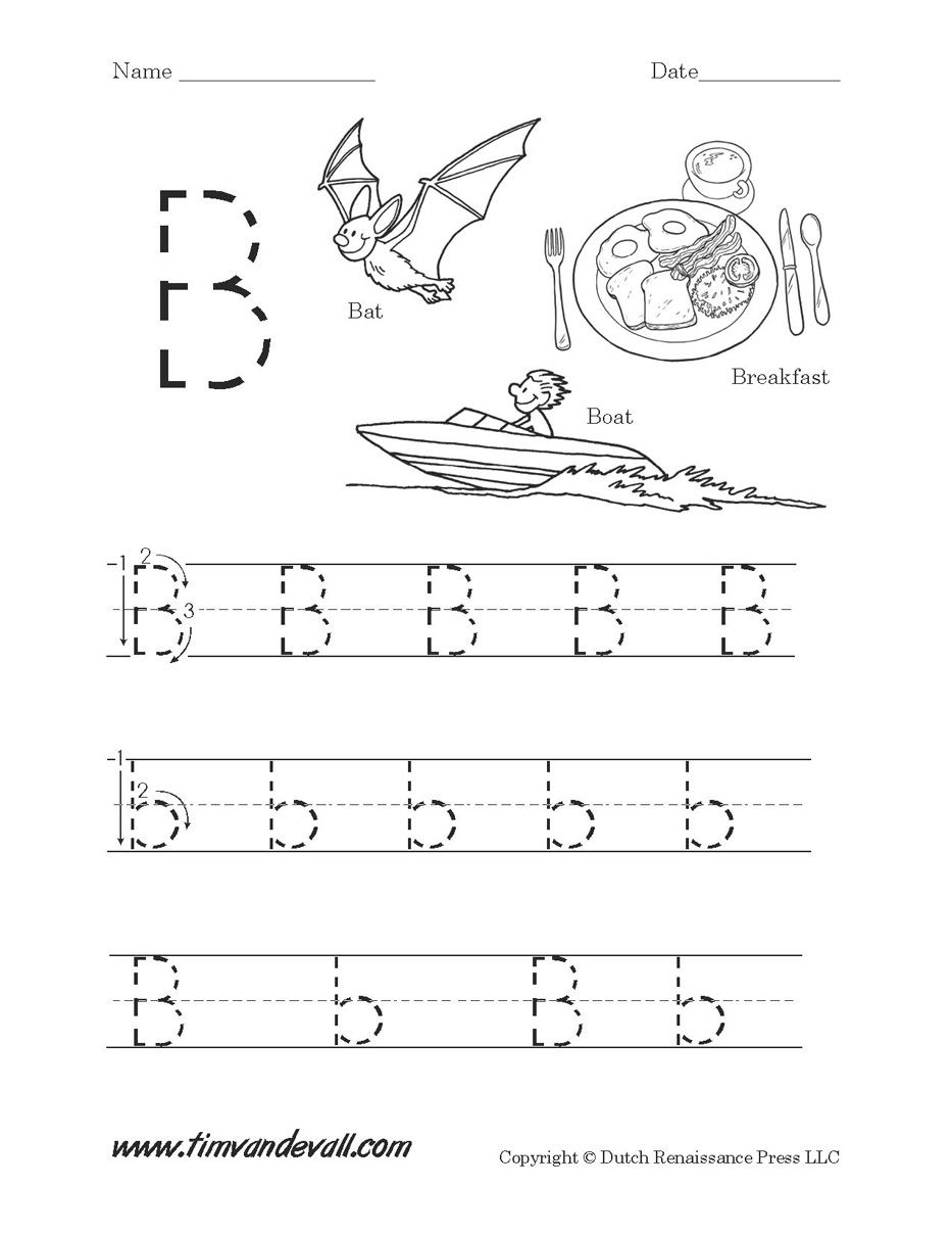 Letter B Worksheets intended for Letter B Worksheets Pdf