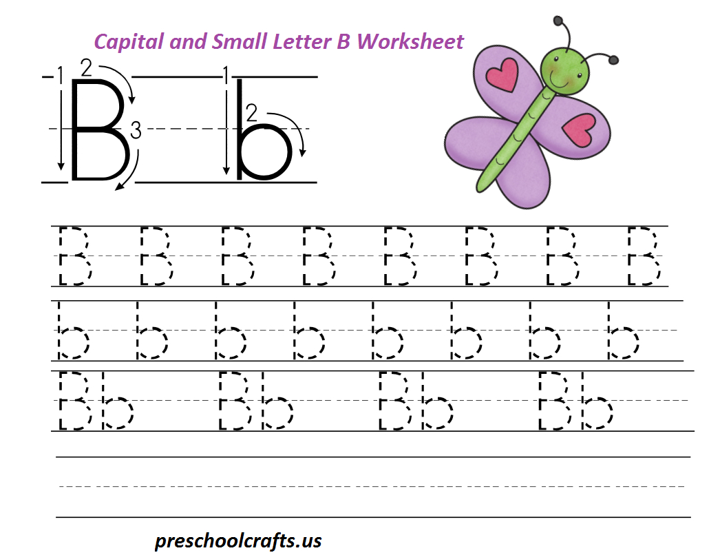 Letter B Worksheets - Preschool And Kindergarten | Letter B in Letter B Worksheets For Preschool