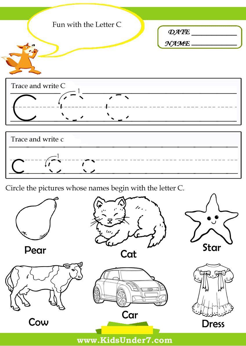 Letter C Worksheets For Preschool - Google Search | Alphabet within Letter C Worksheets For Toddlers