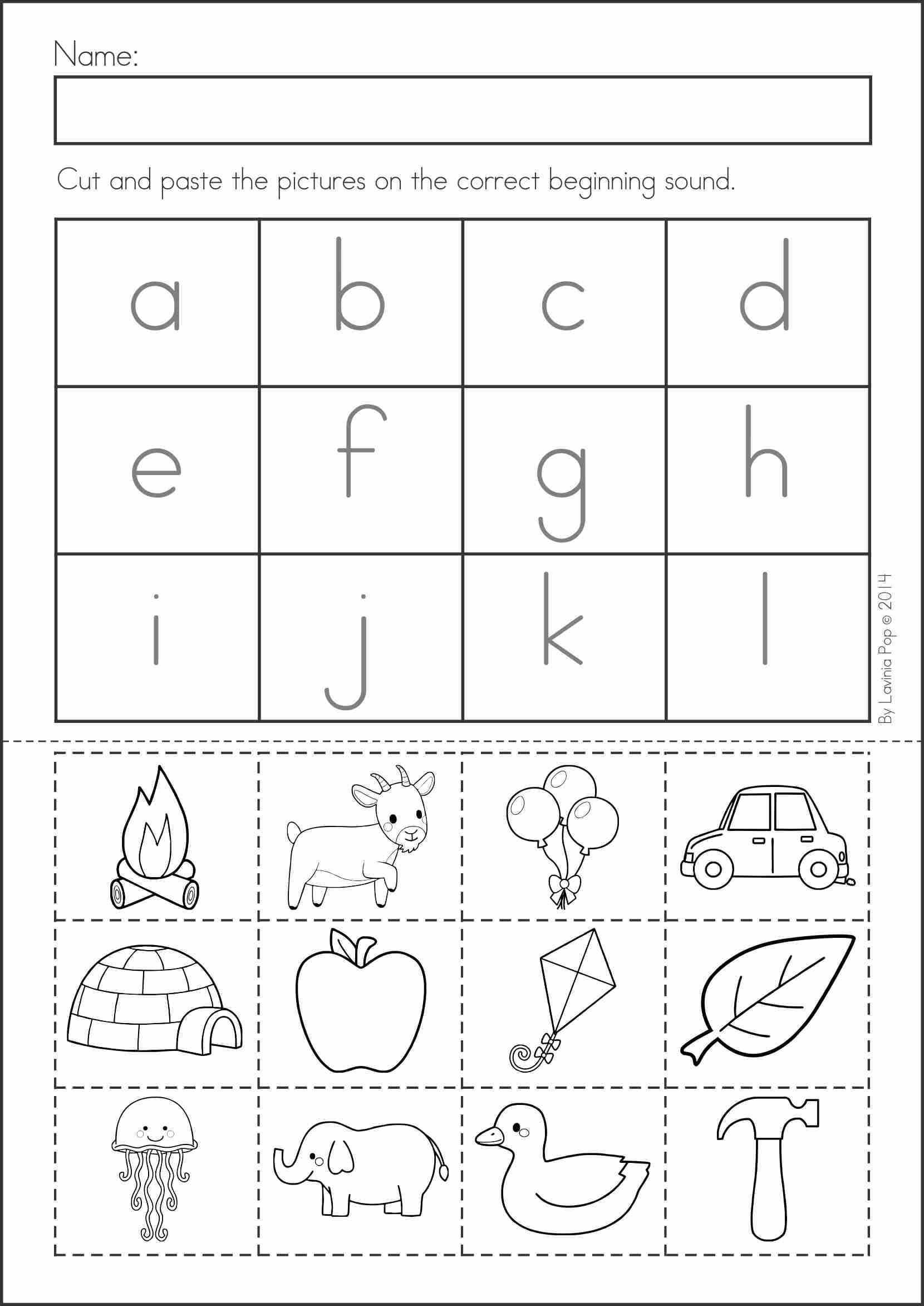 Letter Cut And Paste Worksheet | Printable Worksheets And within Alphabet Worksheets Cut And Paste
