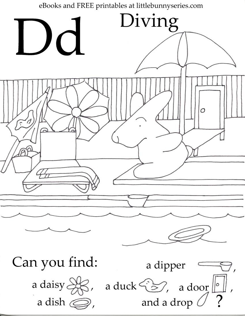 Letter D Seek And Find Pdf | Preschool Letters, Letter D regarding Letter D Worksheets For Preschool Pdf