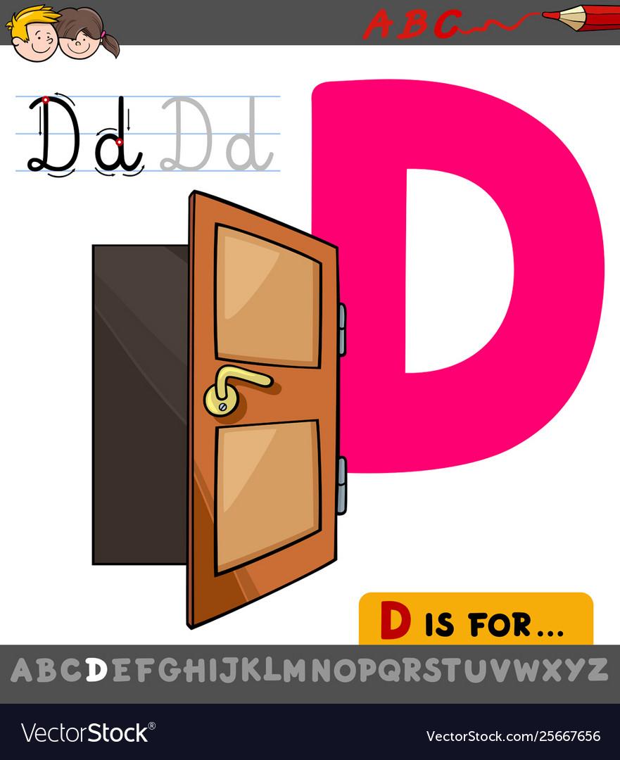 Letter D Worksheet With Cartoon Door regarding Letter D Worksheets Free