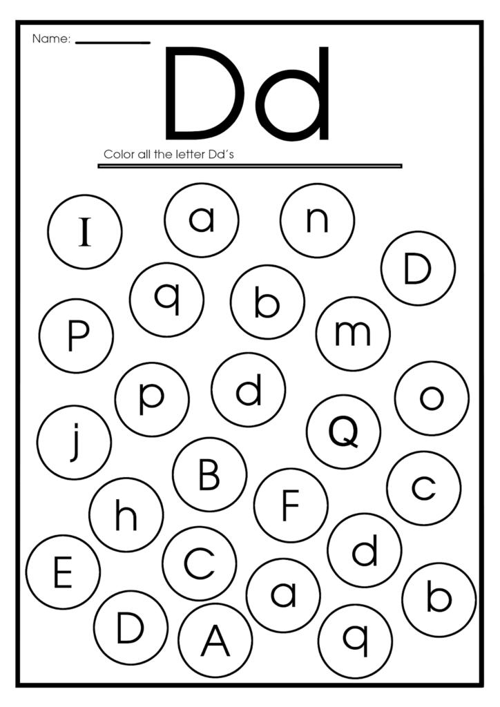 Letter D Worksheets, Flash Cards, Coloring Pages Within Letter Dd Worksheets