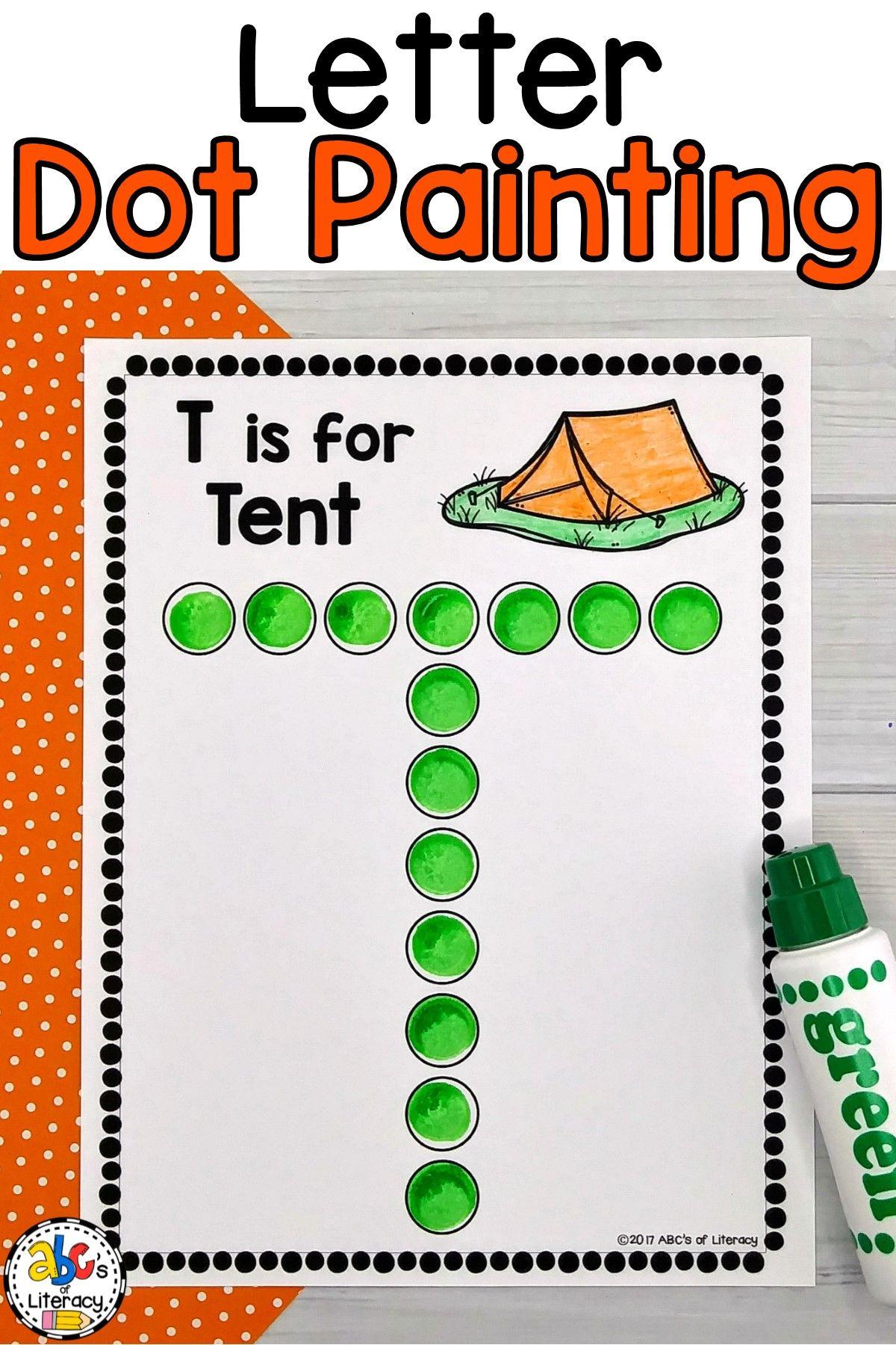 Letter Dot Painting Worksheets (Bingo Dauber Activity for Alphabet Dauber Worksheets
