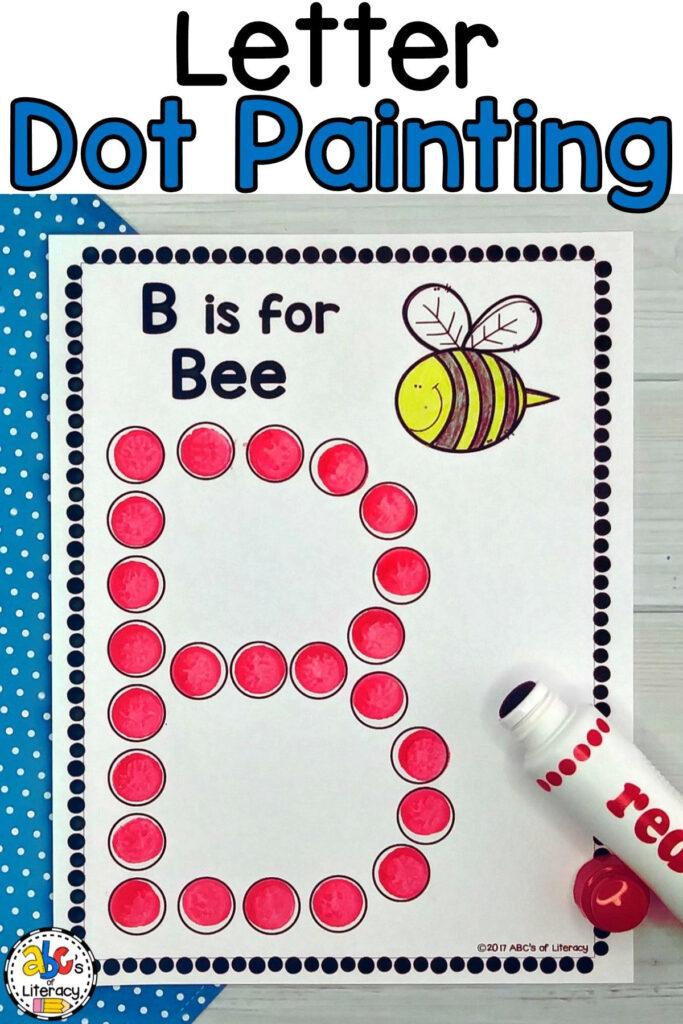 Letter Dot Painting Worksheets (Bingo Dauber Activity With Regard To Alphabet Dauber Worksheets