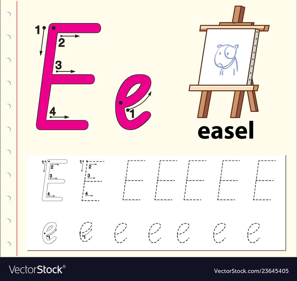 Letter E Tracing Alphabet Worksheets intended for Letter E Alphabet Worksheets