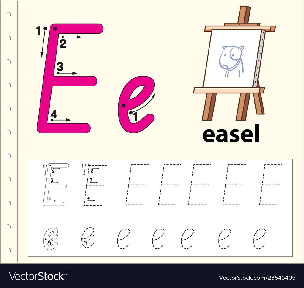 Letter E Tracing Alphabet Worksheets Intended For Letter E Alphabet Worksheets