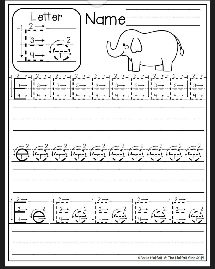 Letter E Worksheet | Preschool Writing, Preschool Worksheets In Alphabet Homework Worksheets