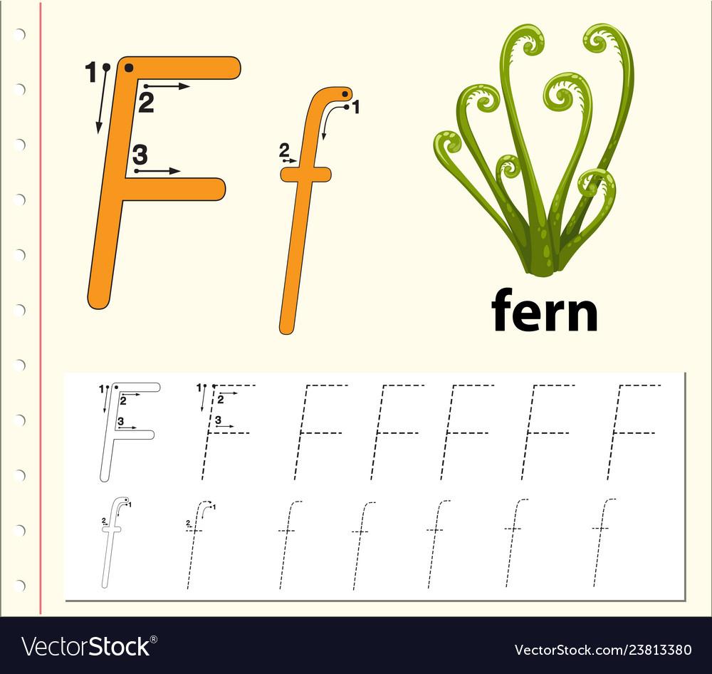 Letter F Tracing Alphabet Worksheets for Letter F Worksheets Pdf Free