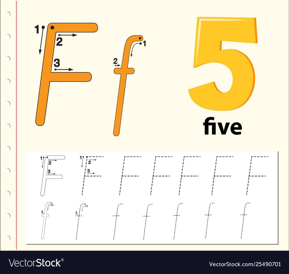 Letter F Tracing Alphabet Worksheets intended for Letter F Worksheets Free