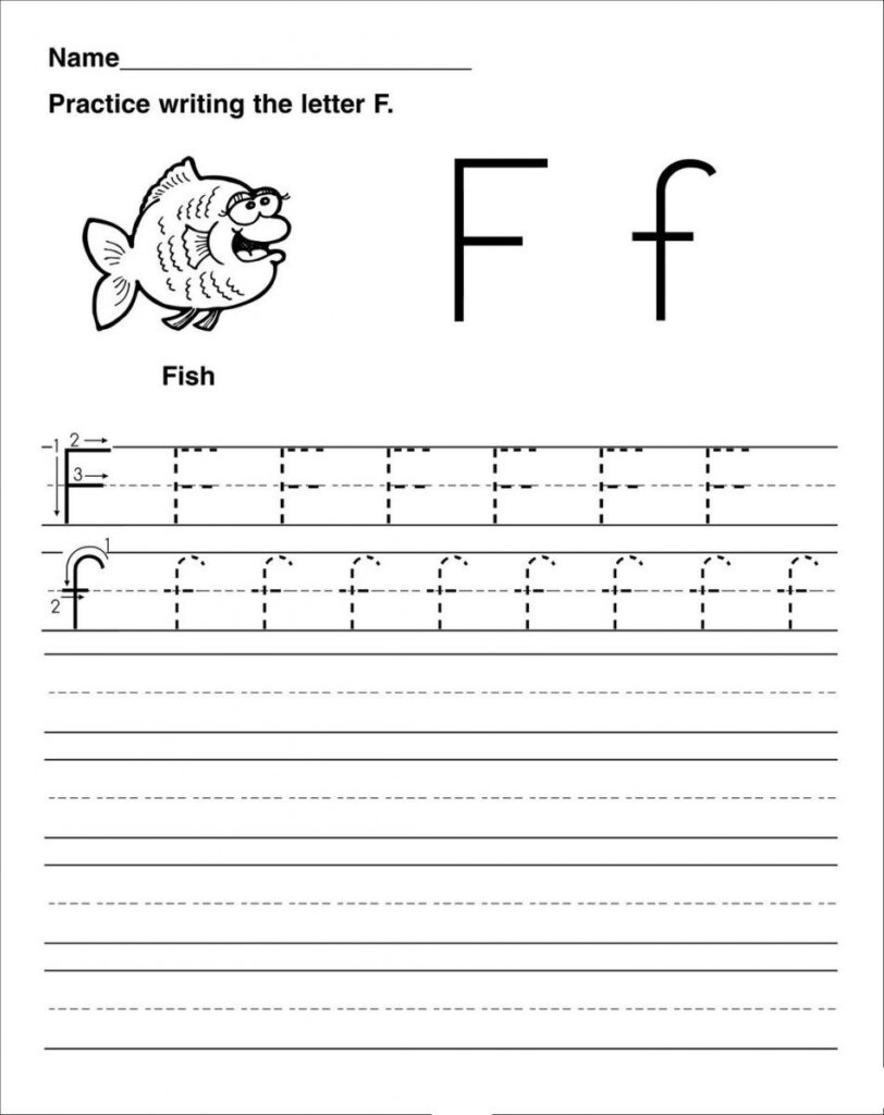 Letter F Worksheet Activities | Preschool Worksheets With Regard To Alphabet Worksheets Kindergarten Printable