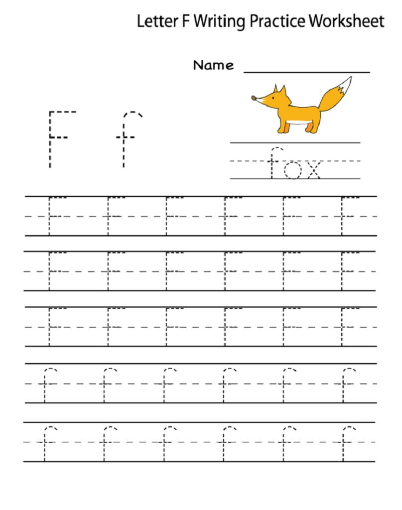 Letter F Worksheet For Preschool And Kindergarten | Activity Throughout Letter F Worksheets Prek