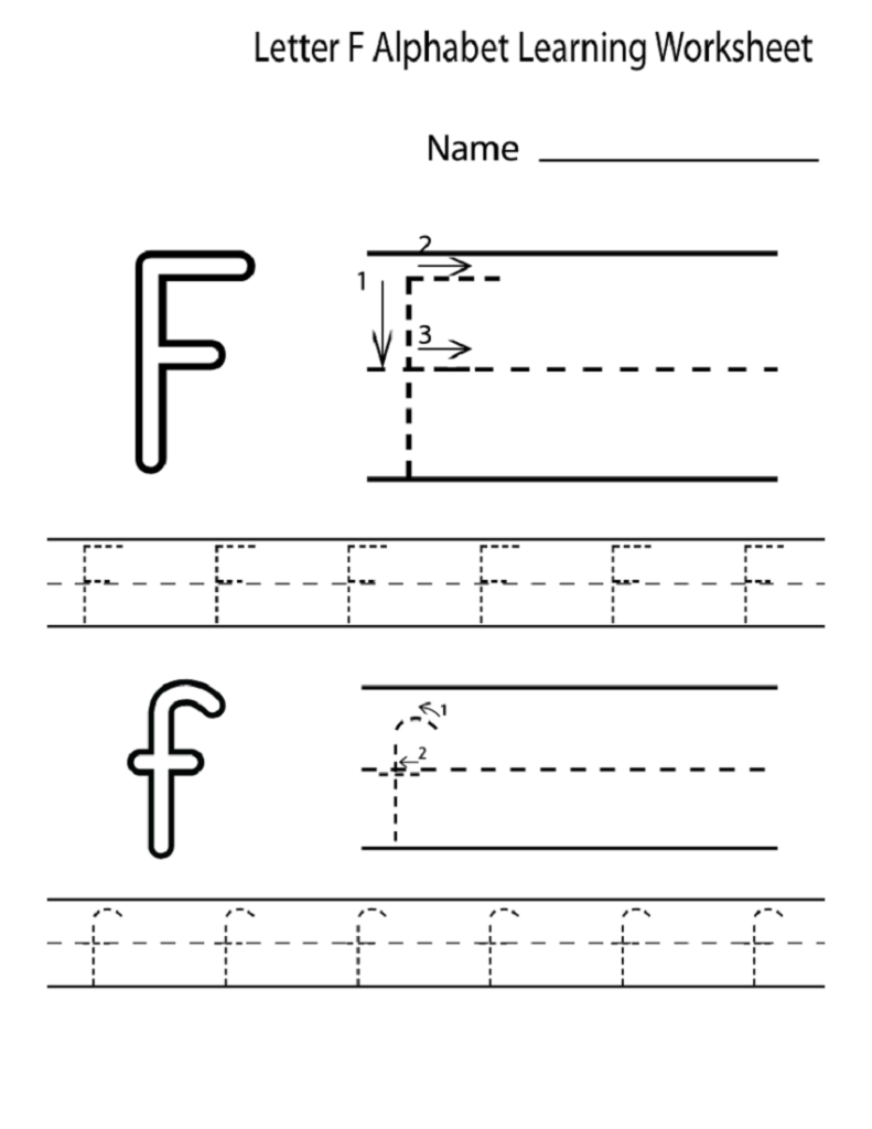 Letter F Worksheet For Preschool And Kindergarten | Activity With F Letter Worksheets