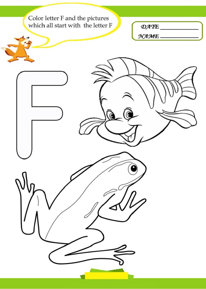 Letter F Worksheet For Preschool And Kindergarten inside Letter F Worksheets For 1St Grade
