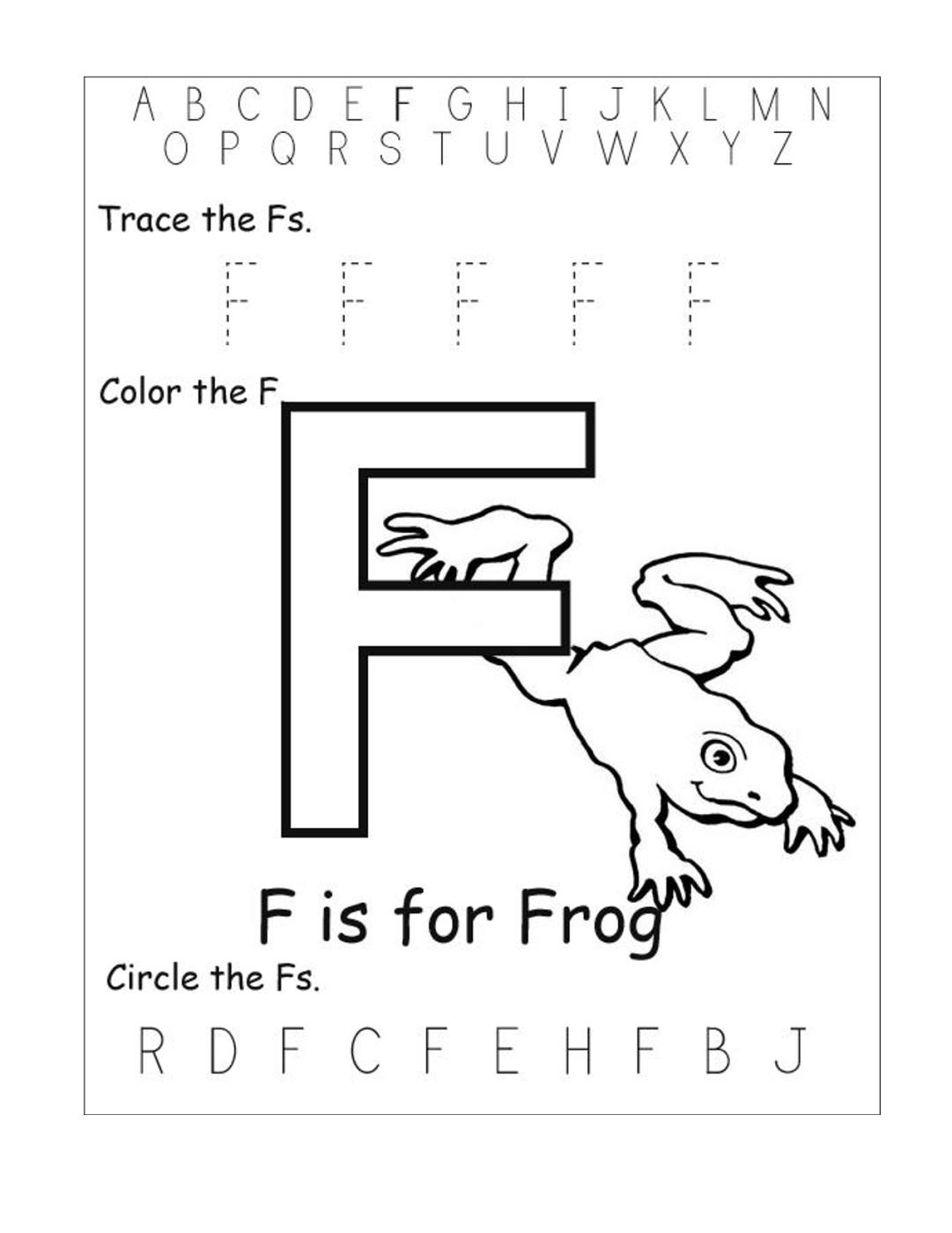 Letter F Worksheets For Preschool Worksheets For All with F Letter Worksheets Preschool
