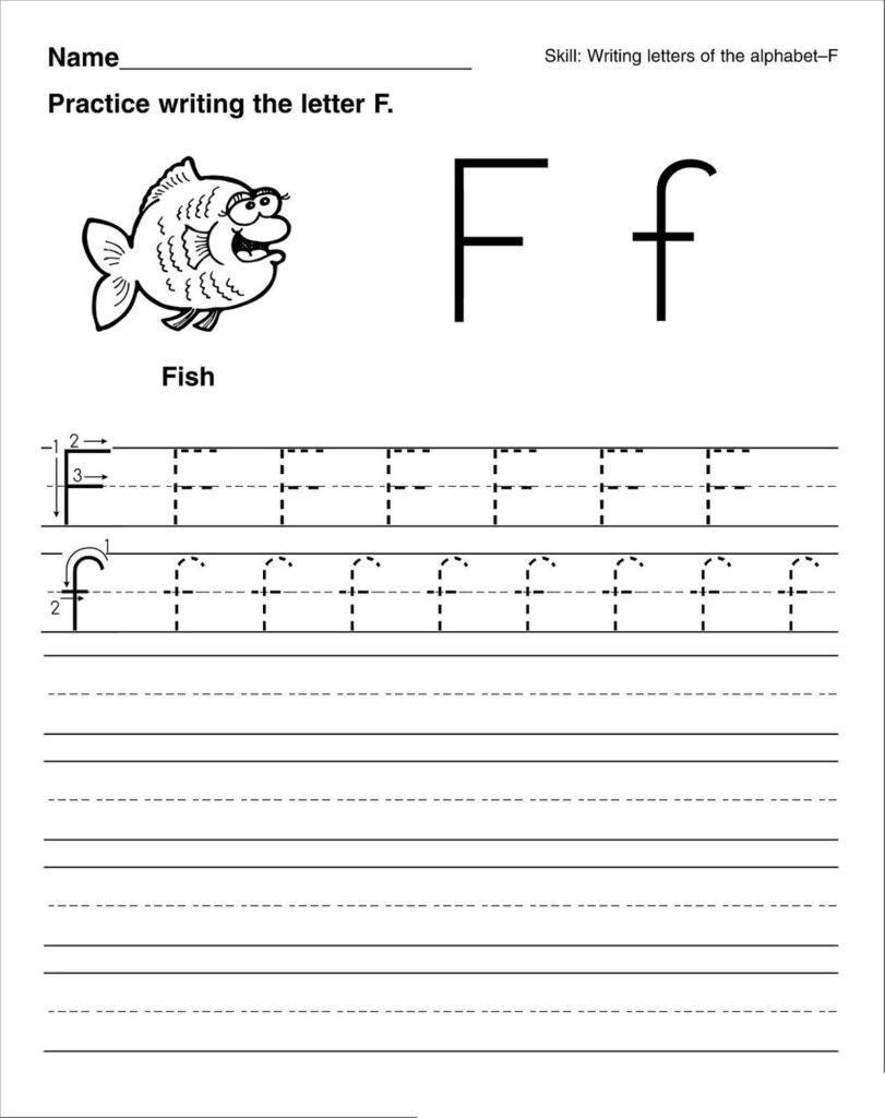 Letter F Worksheets – Kids Learning Activity Intended For Letter A Worksheets For Preschool