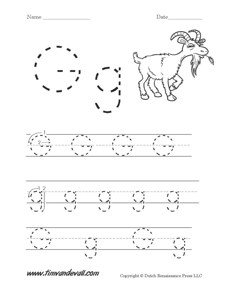 Letter G Worksheets | Preschool Alphabet Printables In Letter G Worksheets Pdf