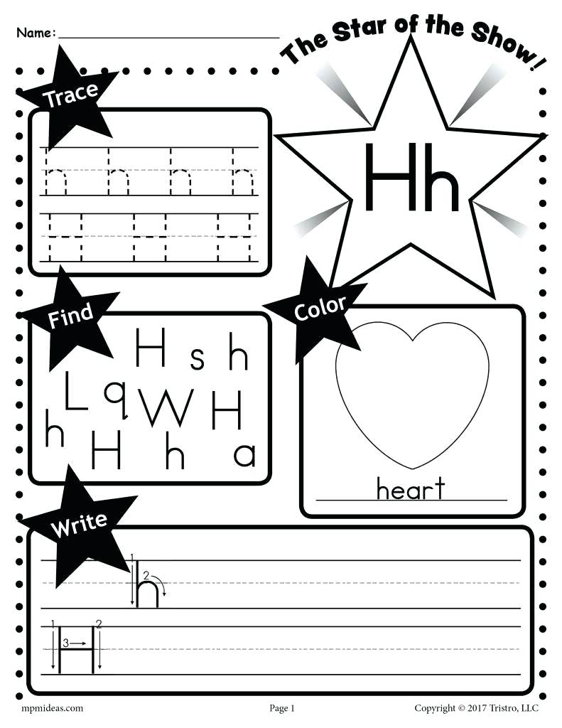 Letter H Coloring Worksheets – Giftedpaper.co within Letter H Worksheets Free