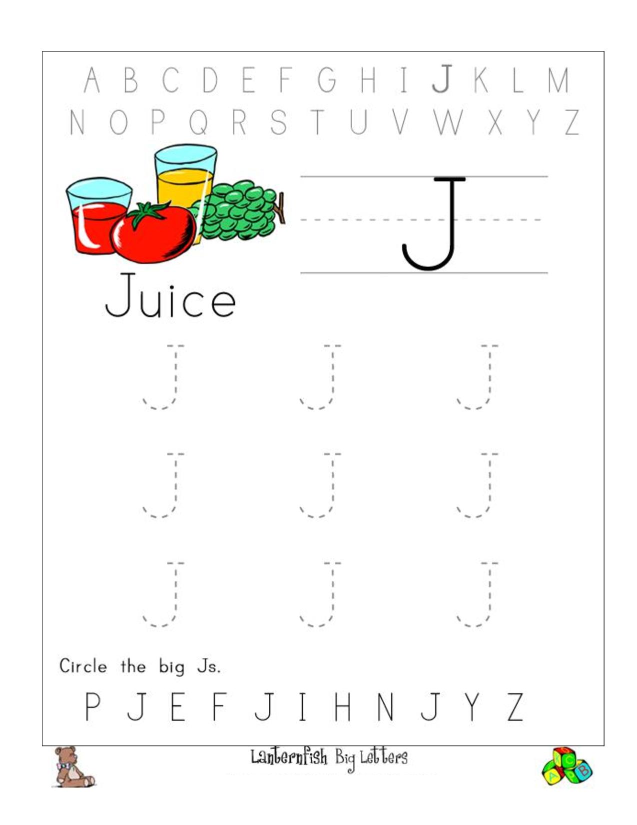 Letter J Worksheets Sb440. Letter J Writing Worksheet Big intended for Letter J Worksheets Sparklebox
