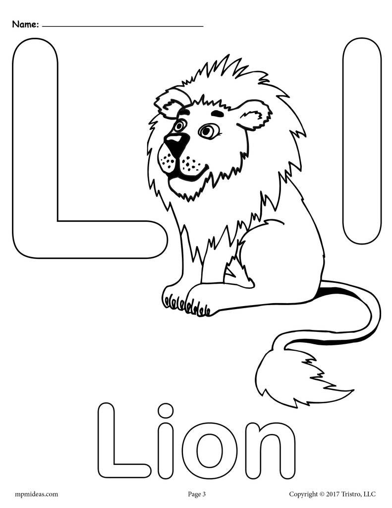 Letter L Alphabet Coloring Pages - 3 Free Printable Versions within Letter L Worksheets For Pre K