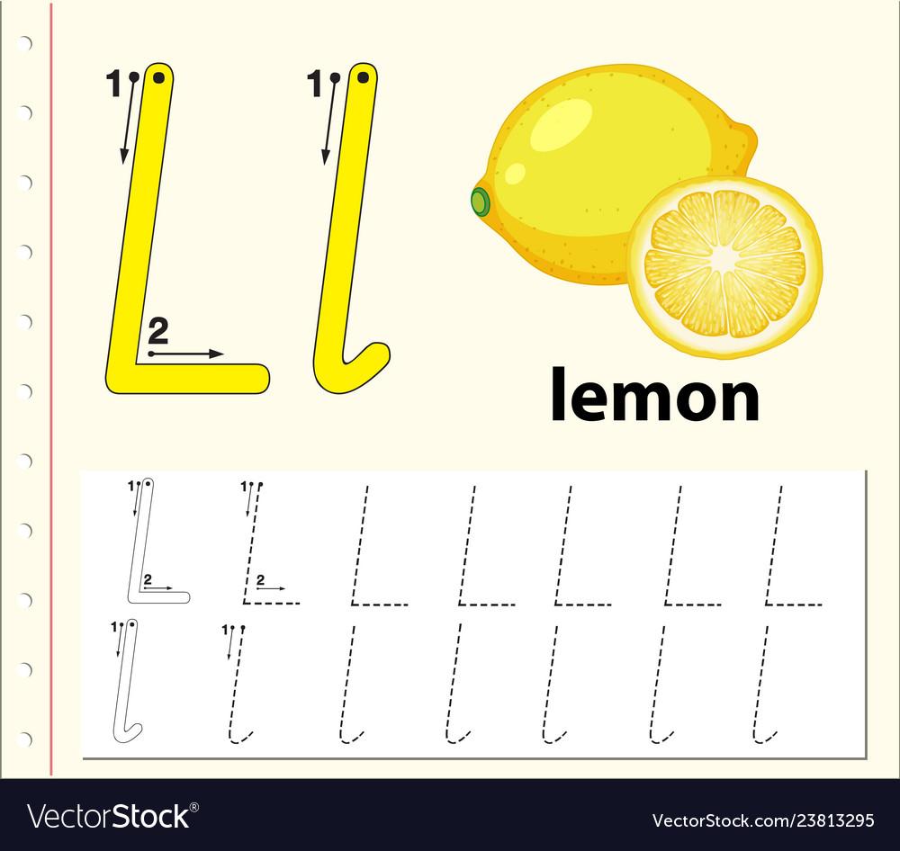 Letter L Tracing Alphabet Worksheets within Letter L Worksheets Pdf