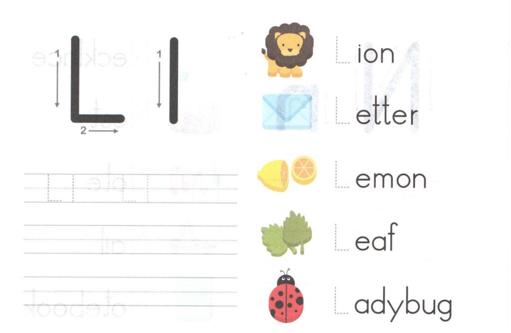 Letter L Worksheets Kindergarten & Alphabet Letters With Letter L Worksheets For Toddlers