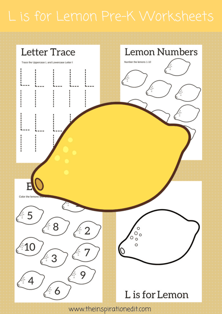Letter L Worksheets That Kids Will Love · The Inspiration Edit In Letter L Worksheets Free