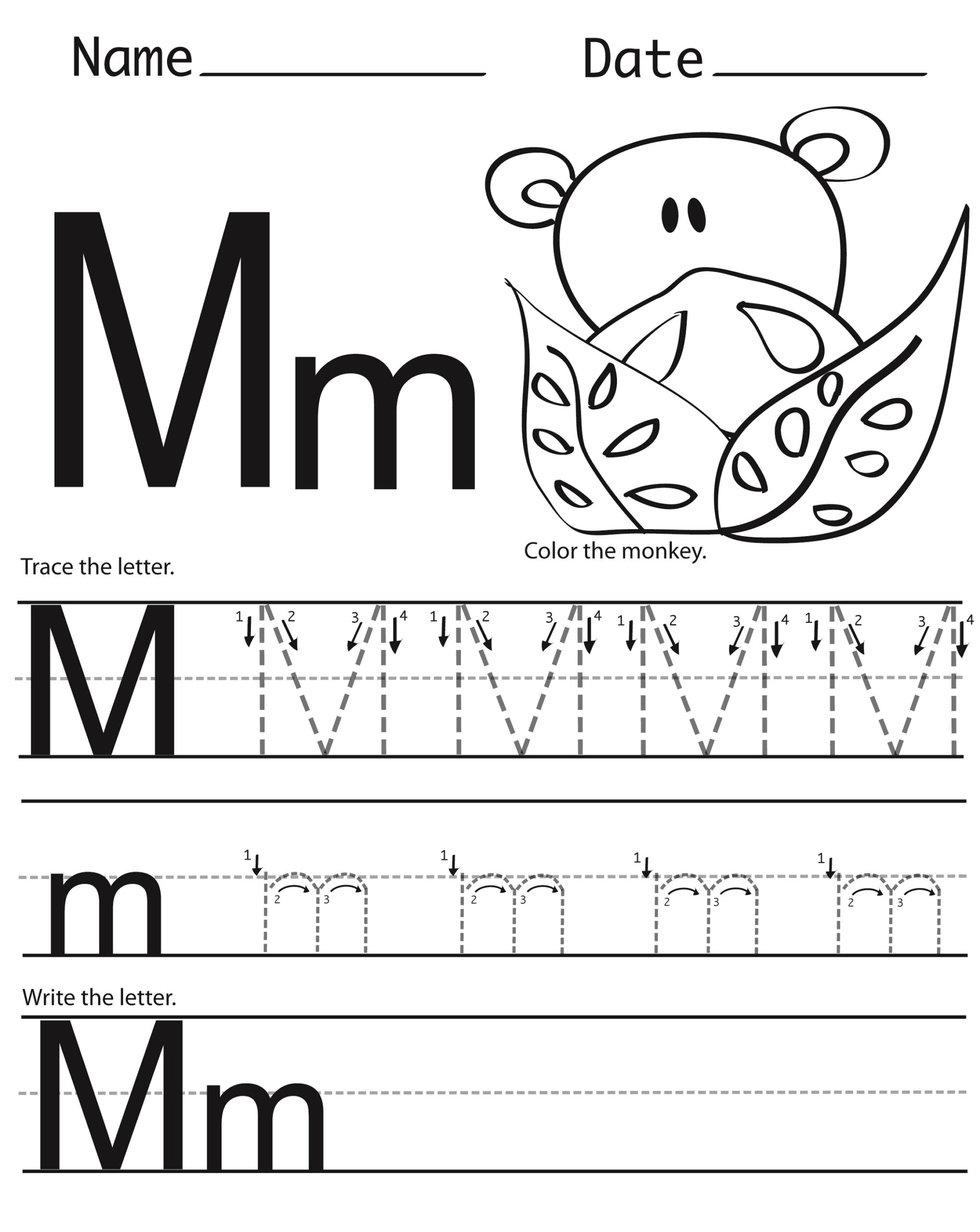 Letter M Worksheets | Activity Shelter inside Letter M Worksheets Printable