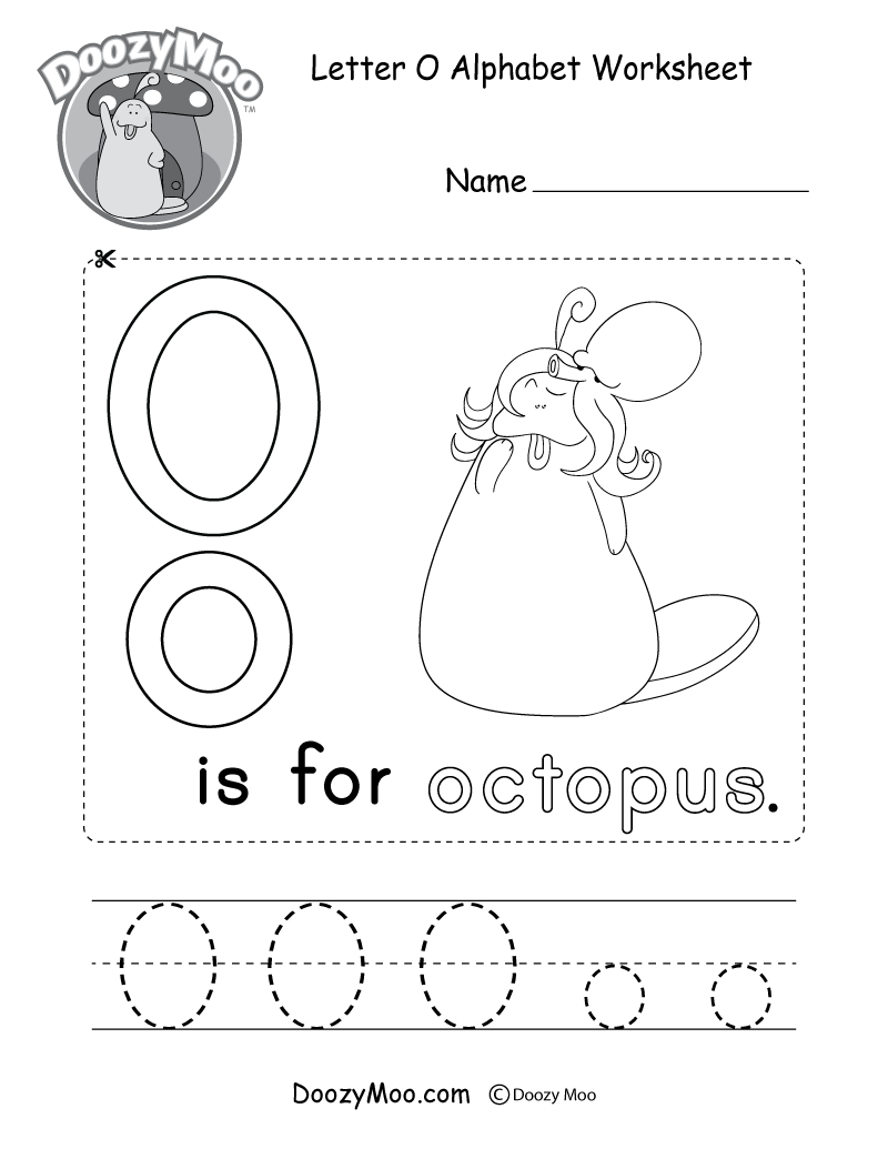 Letter O Alphabet Activity Worksheet - Doozy Moo throughout Alphabet O Worksheets