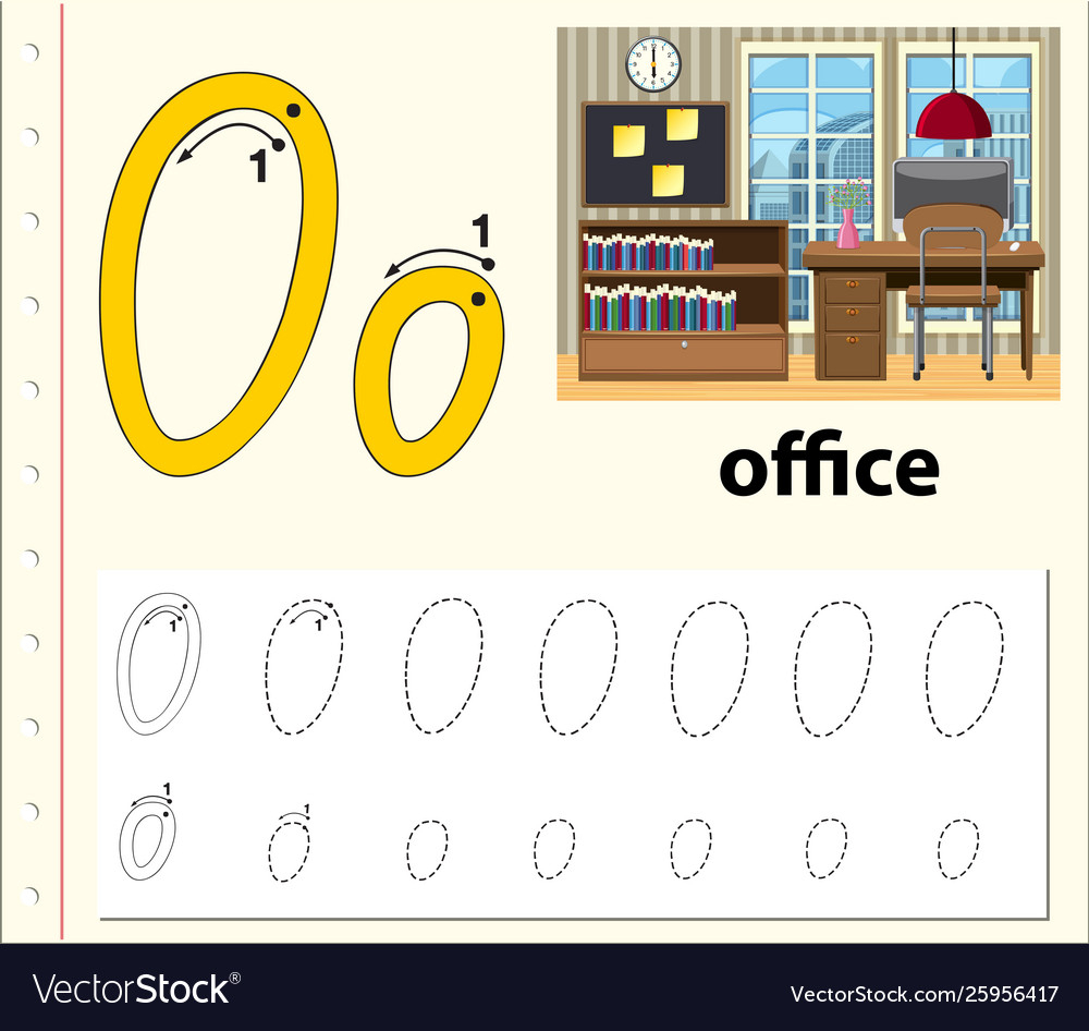 Letter O Tracing Alphabet Worksheets with regard to Alphabet Worksheets With Pictures