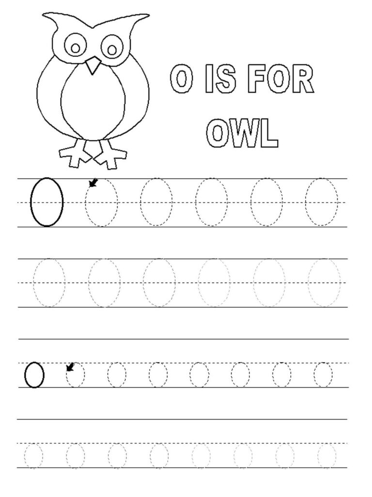 Letter O Worksheets For Preschool | Letter O Worksheets Inside Alphabet O Worksheets