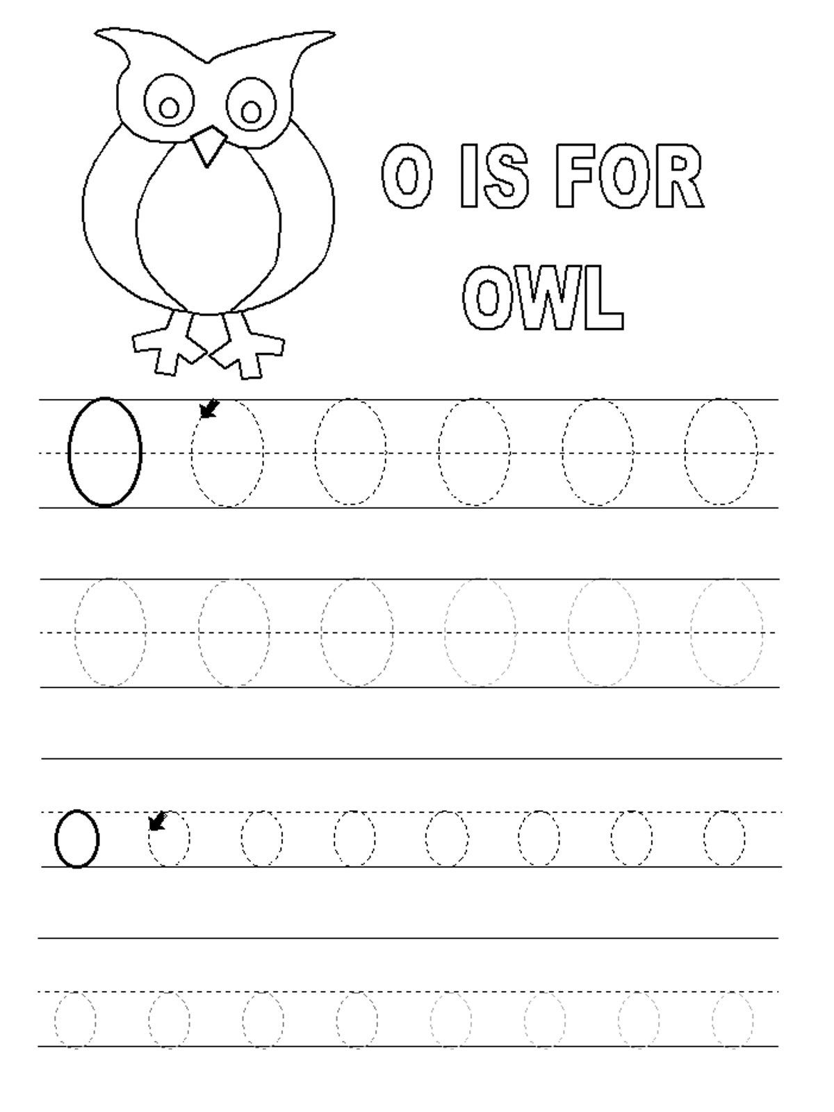 Letter O Worksheets For Preschool | Letter O Worksheets pertaining to Letter 0 Worksheets