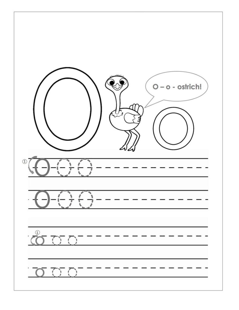 Letter O Worksheets – Kids Learning Activity In Letter O Worksheets For Toddlers
